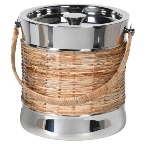 The Ascot Cane & Nickle ICE BUCKET