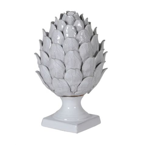 White Ceramic Decorative ARTICHOKE