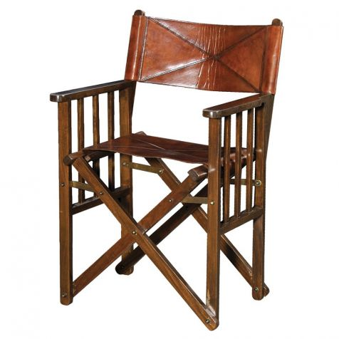 The Burton Leather DIRECTORS CHAIR