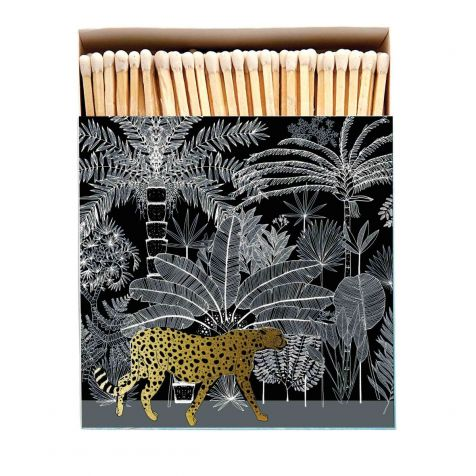 Luxury Matches in BLACK CHEETAH Design
