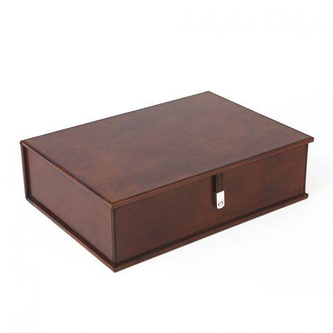 The Burton Leather BOX FILE