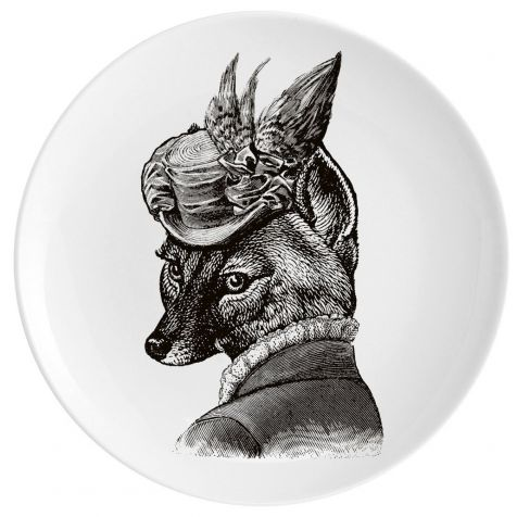 FOXY LADY Fine China Wall Art Plate by Chase & Wonder
