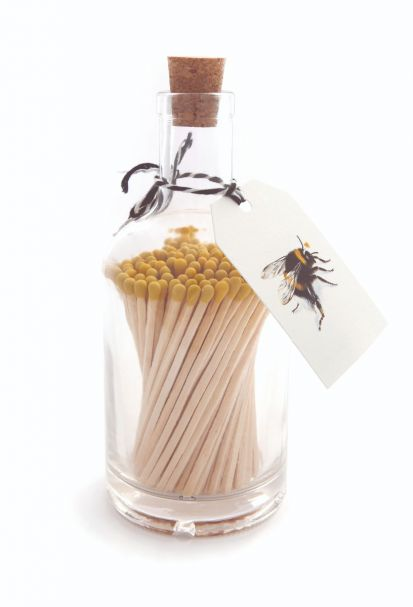 Matches in Glass Bottle BEE Design