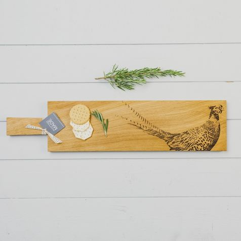 Long Oak Pheasant SERVING PADDLE by Scottish Made