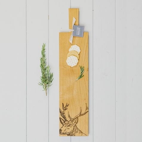 Long Oak Stag SERVING PADDLE by Scottish Made