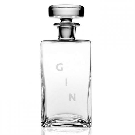 American Bar Lillian Square GIN DECANTER by William Yeoward