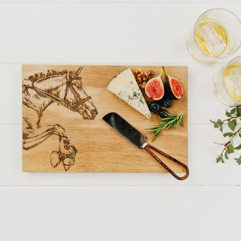 Small Oak Horse SERVING BOARD by Scottish Made