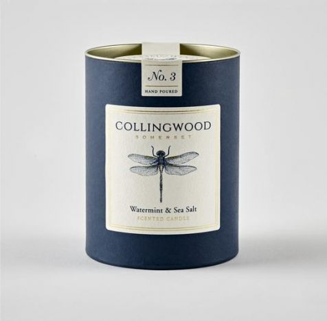 WATERMINT AND SEA SALT Scented Candle by Collingwood Somerset
