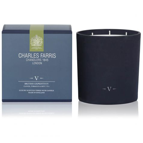 BRITISH EXPEDITION 3 Wick Scented Candle by Charles Farris