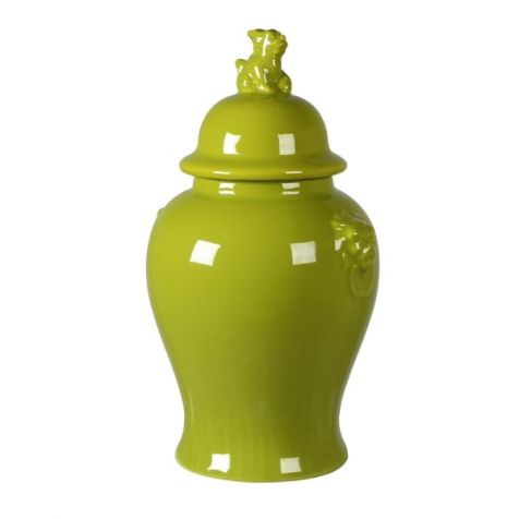 The Lime Green Lion TEMPLE JAR