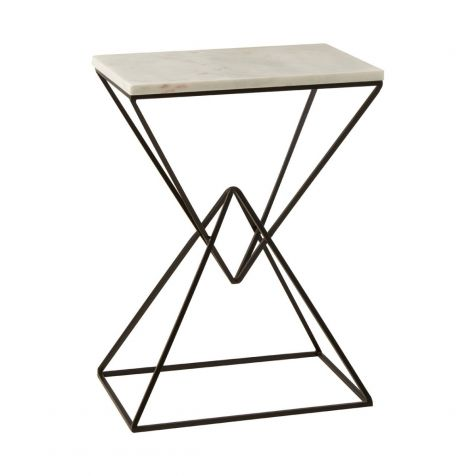The Shalimar Marble Rectangle SIDE TABLE