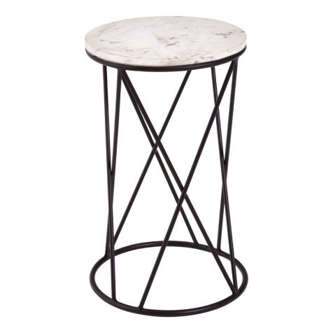 The Shalimar Marble Round SIDE TABLE