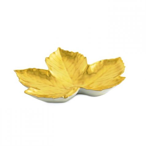The William Yeoward Gold Maple Leaf DISH