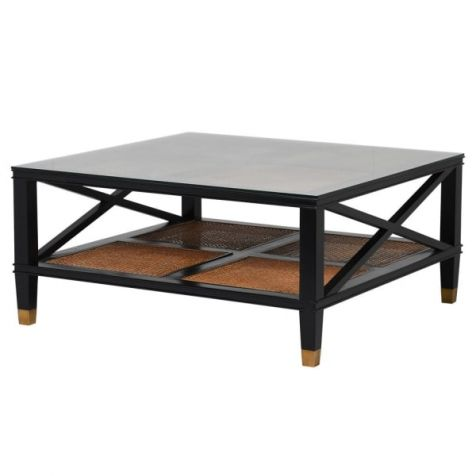 The Mayfair Classic Black & Ratton COFFEE TABLE