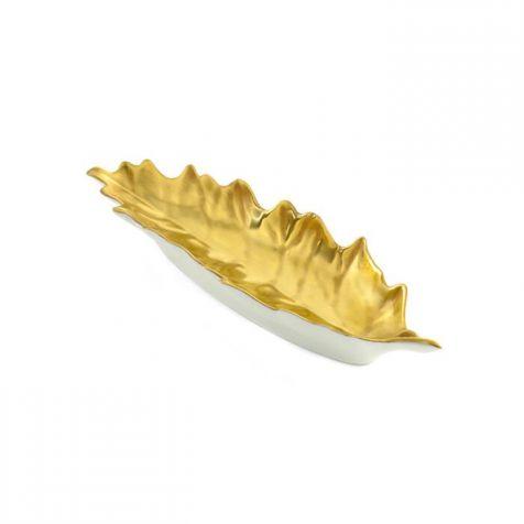 The William Yeoward Oak Gold  Leaf DISH