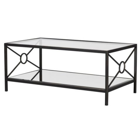 The Classic Glass & Iron COFFEE TABLE