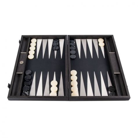 The Inland Classic Black BACKGAMMON SET by Manopoulos