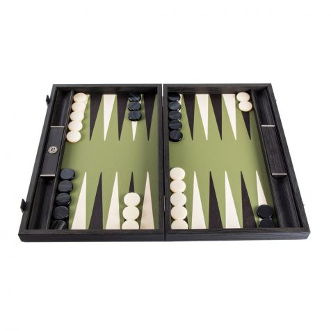 The Inland Olive Green BACKGAMMON SET by Manopoulos