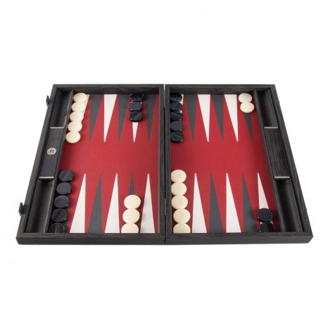 The Inland Classic Red BACKGAMMON SET by Manopoulos