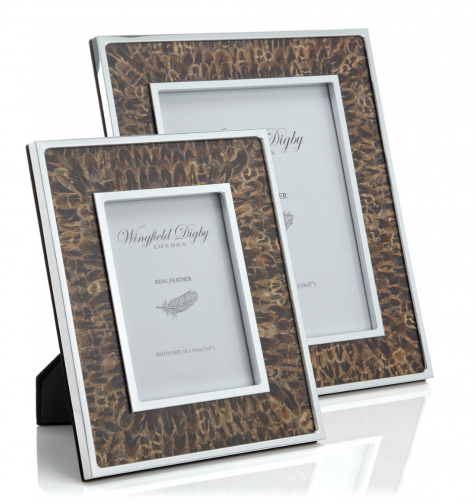 The Hen Pheasant Feather 8x10 PHOTOGRAPHY FRAME by Wingfield Digby