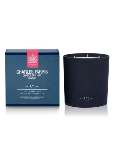 GARDEN OF EDEN 3 Wick Scented Candle by Charles Farris
