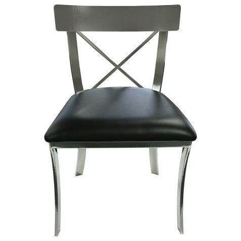 The Klismos Chrome DINING CHAIR
