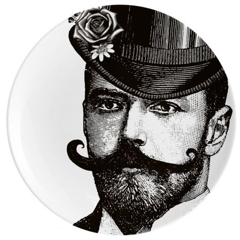 DASHING GENT Fine China Wall Art Plate by Chase & Wonder