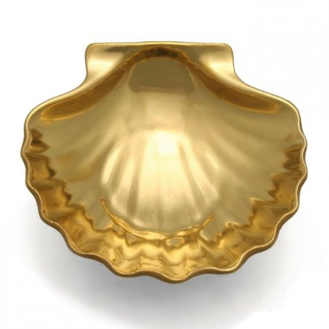 The William Yeoward Scallop Shell Gold Leaf DISH