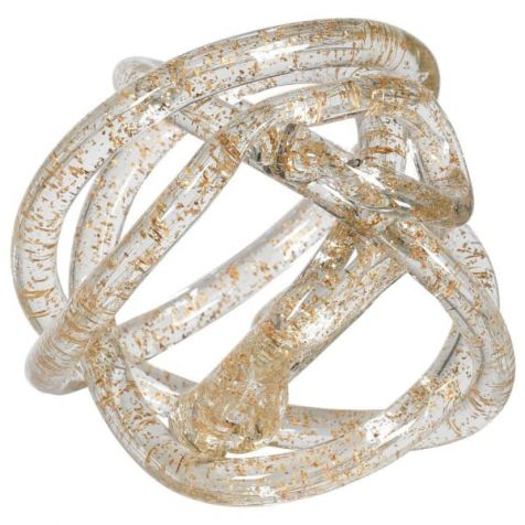The Gold Leaf Clear GLASS KNOT