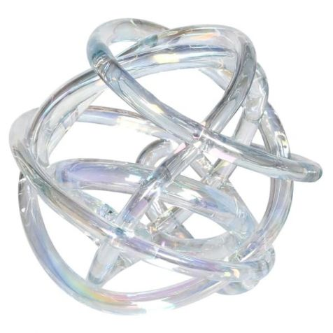 The Clear Iridescent GLASS KNOT
