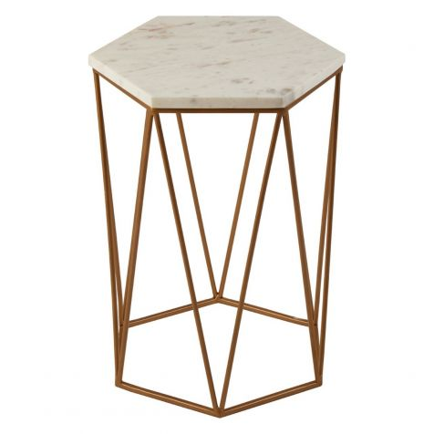 The Shalimar Marble Hexagonal SIDE TABLE