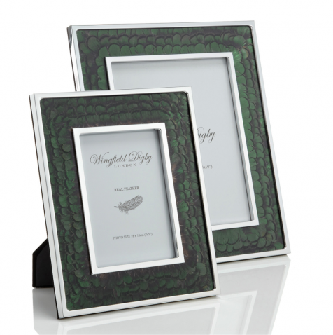 The Green Pheasant Feather 8x10 PHOTOGRAPHY FRAME by Wingfield Digby