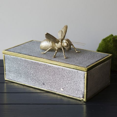 The Curious BEE Shagreen Box