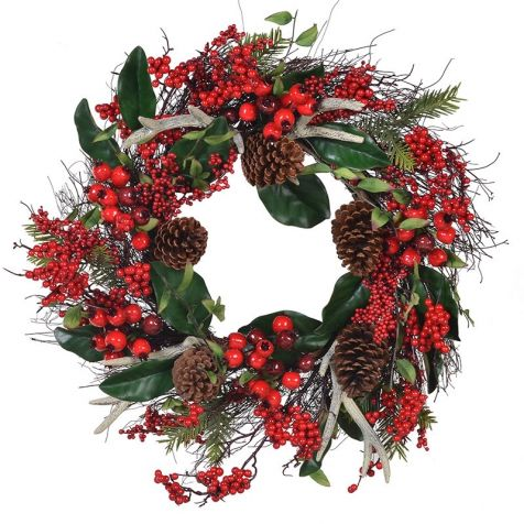 The Antler Berry & Pine Cone WREATH