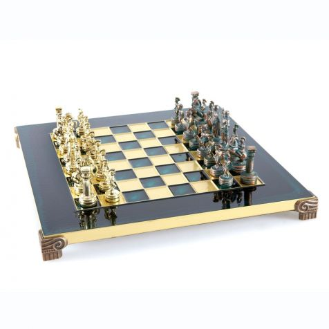 The Green Greek Roman CHESS SET by Manopoulos