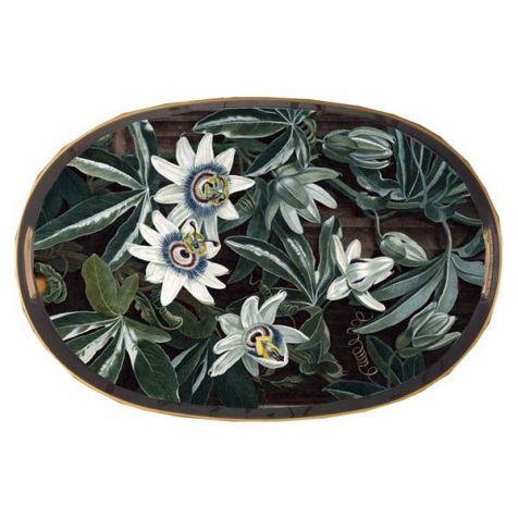 The Al Fresco Oval Passion Flower TRAY