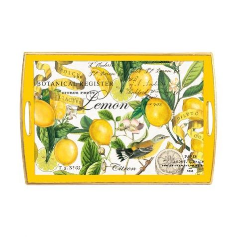 The Lemon Basil Decoupage WOODEN TRAY